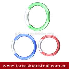 Popular aluminium design and promotional round carabiner