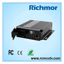 Richmor H264 standalone 4 channel car dvr for vehicle remote for dvr 4ch mobile dvr for car
