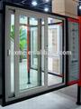 Accesorios de aluminio ventana corrediza de bloqueo/rejas de ventanas para el diseño de ventanas correderas/marco de aluminio de ventana corredera de vidrio