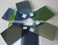 3-8mm azul, verde, de color rosa, cristal reflectante gris recubierto de vidrio flotado