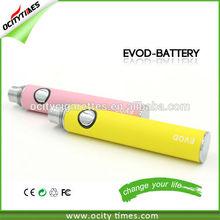 big vapo ego e-cigarette 650/900/1100mah e-cigarette batteries custom Evod Battery Vaporizer Pen