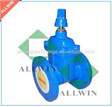ductile iron non-rising stem flange end gate valve DN100mm