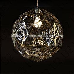 Silver Pendant Lamp Chandelier Ceiling Light Suspension Hanging Light