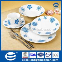 20pcs microwave safe ceramic blue and white tableware set design inspiration origin live