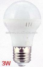 LED 3W PLASTIC BULB LAMP WITH B22 / E27/E14