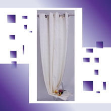 100% Polyester line pattern jacquard window curtain