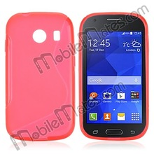 New arrival S Shape Design Soft TPU Back Cover Case For Samsung Galaxy Ace Style G310