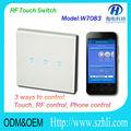 cellulare controllato interruttore della luce via wifi 315 433 mhz made in china