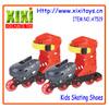 New item children adjustable sport toys plastic skate shoes
