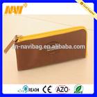New arrival simple design pu leather flat pencil case