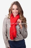 2014 latest design raining rhinestones cotton shawl with red color