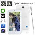 Allwinner a23 dual core 3000 mah 800*480 7 polegadas android tablet pc com chamada de voz zxs-733