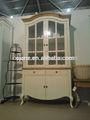 armário de madeira maciça com vidro porta de madeira maciça de carvalho mobiliário home furniure