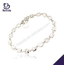 Fresh square cross design wholesale brass bracelet for men