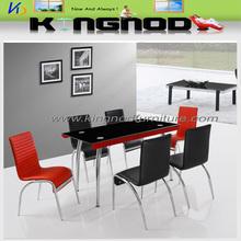 two side bending chromed leg dining room tables