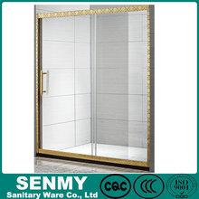 Rectangular Frameless Tempered Glass Sliding Shower Door & toilet room design