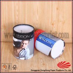 Transparent lid paper tube underwear storage box