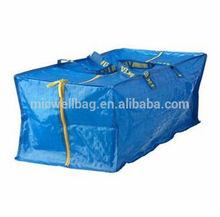IKEA ZIPPERED Frakta Zipper Storage Shopping Laundry Tote Bag Blue