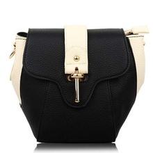 BV7094 hefei zhijing Fall 2014 new elegant best quality female bag color matching padlock shoulder bag manufacturer