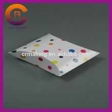 Dots printing white card matte lamination custom pillow pack boxes