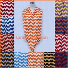 Infinity Scarf, Chevron Stripe in orange & white