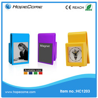 (HC1203) plastic clock insert magnet or photoframe education toy
