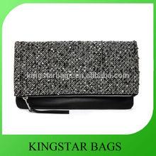 Textured knit overlay clutch bag display bag clutch
