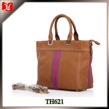 Fashion jion together small leather tote bag handbag for girl