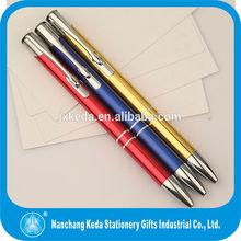 2014 promotional cheap Citation Retractable aluminum logo customized metal Ball-point Pens for marketing