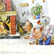 Advanced story children board puzzle book