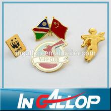 metal flag pin badge