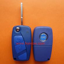 Schlüssel fiat leer 2-tasten-flip remtoe farbe schlüsselrohling( blau Farbe)