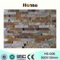 HS-G06 foshan decorative garden 3d brick,antique blue limestone bricks,antique brick prices