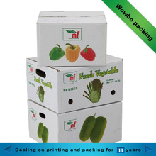 High quality vegetables corrugated paper box
