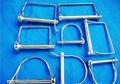 Alambre de bloqueo pin/pargo pin/de zinc plateado cuadrados perno de cerradura