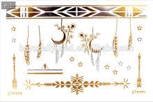 Metallic Tattoo Stickers Jewelry New designs Customized Pattern