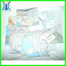 Yiwu 2014 New Arrived Unique Map Wholesale Size Envelope DE Papel Vegetal