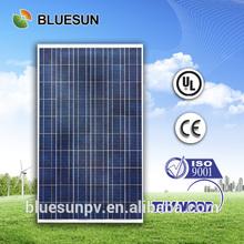 TUV,CE,UL full complete BLUESUN good price 250w polycrystalline 3d solar panel