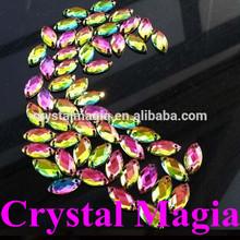 hot selling rainbow color crystal flat back acrylic sew on rhinestone