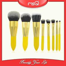 2014 MSQ New 8pcs Shiny Yellow Synthetic Hair Cosmetics Kit