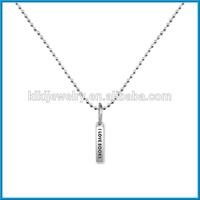 i love books metal bar pendant ball chain necklace