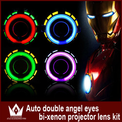 High Quality 3 inch Universal Angel Eyes Headlight H1 H7 H4 H13 9007 9005 9006 White Yellow Blue Red Green Double CCFL Angel EYE