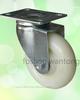 Double Steel Bearing Zinc Bracket Nylon Swivel Caster Wheels 75mm