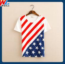 2014 Very Popular Women and men American Flag T Shirt