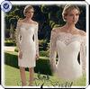 TT0141 lace long sleeve short wedding dress online shop