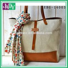 BEST SELLER Linen tote bag Herringbone cotton Eco friendly ORGANIC Medium Natural French tote bag
