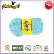 High quality metallic knitting 95% acrylic yarn at reasonable price manufacturer