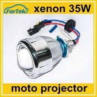 2.5 inch 35W HID bi xenon projector headlight for motorcycle with angel eye devil eye