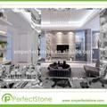 blanco mármol serpeggiante metrosprecio de baldosas de mármol de cuarto de baño suelo de baldosas