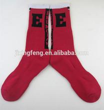 cartoon pattern printed 144n cotton mens terry basketball sports socks